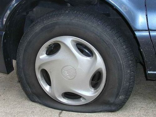 Roadside Assistance Flat Tire Replacement
